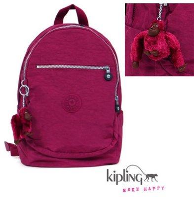 全新保證正品【 Kipling 】熱銷經典款 Kipling 後背包  深桃粉素面 原價4980 特價$2399