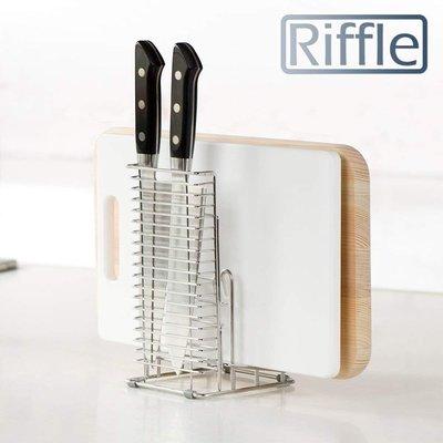 日本LEC RIFFLE  多功能多用途廚具架 不銹鋼刀架 不銹鋼砧板收納
