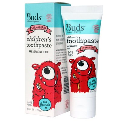 Buds - 1-3 years Children's Toothpaste with Xylitol (Strawberry) 有機幼兒牙膏草莓味 50ml