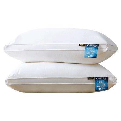【一對裝】紫羅蘭全棉羽絲絨水洗枕頭