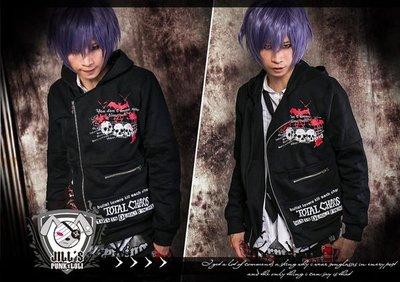 Oo吉兒oO龐克搖滾金屬devil punk樂團風中性騎士外套~飆風戰警 男女可穿 【JGGA274】