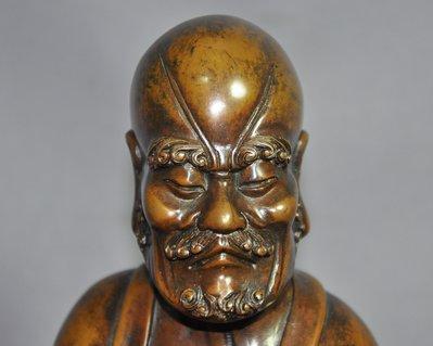 【緣古】 老件 銅雕 銅羅漢坐像