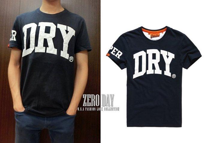 【零時差美國時尚網】英國Superdry極度乾燥專櫃真品Big Dry Entry T-Shirt美式字母短TEE-深藍