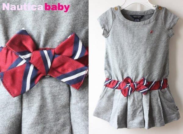 【NAUTICA BABY】100% 全新正品 時尚 短袖 小洋裝+小褲褲 彌月禮 二件組【12M   24M】*NAb01*NEW