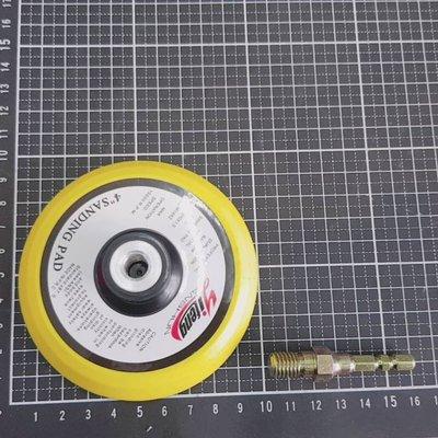 約4吋約10公分自黏式橡膠磨盤(魔鬼氈盤)-牙口為M10(牙口加高)+專利型s5.8六角轉接桿+讓電鑽有更多功能不含主機 台南市