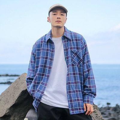 正韓男裝 秋冬百搭格紋襯衫 / BS9777 KOREALINE 搖滾星球