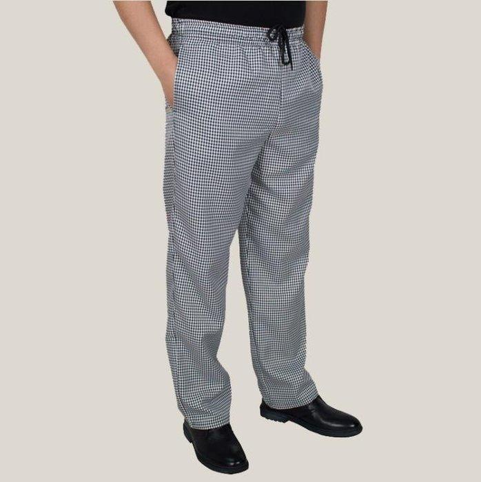 【免運】-西褲 廚師褲子鬆緊褲腰 夏季廚師透氣黑 【HOLIDAY】