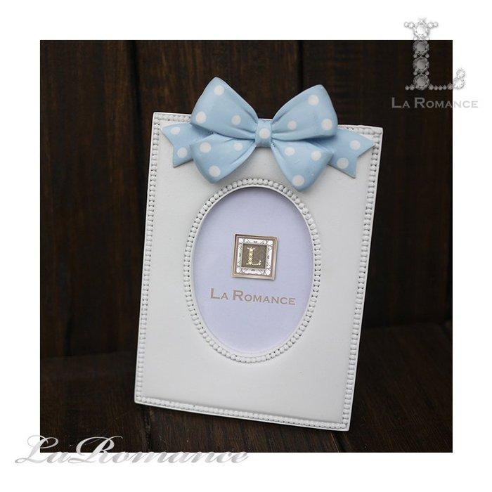【義大利 Cupido & Company 特惠系列】 藍蝴蝶結白色2.5x3.5相框 / 童趣 / 生日 / 紀念日
