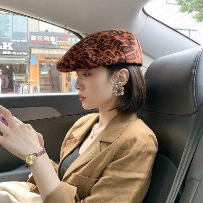 衣萊時尚-時髦潮人街頭復古豹紋前進帽女...