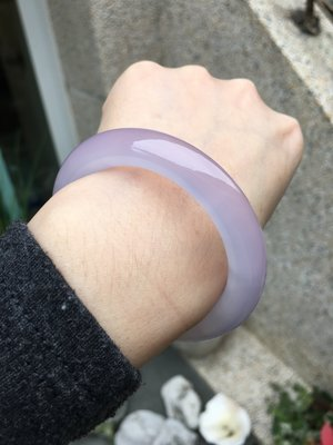 Amanda Jewelry 天然紫蘿蘭玉 紫玉髓 圓骨手鐲