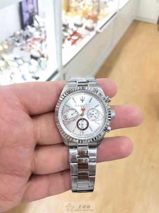 請支持正貨,瑪莎拉蒂 Maserati38m不銹鋼男表,防水100米,銀白色三圈運動錶盤,日期,時顯示,立體外圈運動時尚