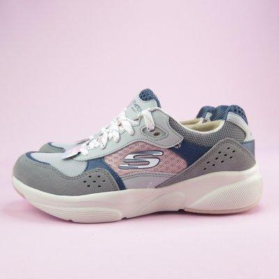 【iSport愛運動】Skechers MERIDIAN-CHARTED 休閒鞋 13019GYPK 女款 灰粉