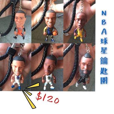 NBA 3D鑰匙扣 鑰匙圈 Kobe James harden curry Durant 球員  勇士 騎士