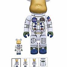 50th ANNIVERSARY OFTHE APOLLO 11 MOON LANDING1969 太空人Bearbrick 400%+100%全新
