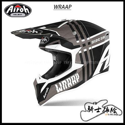 ⚠YB騎士補給⚠ Airoh WRAAP Broken 灰 越野 滑胎 林道 輕量化 透氣 入門 OFF ROAD