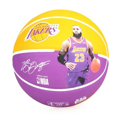 SPALDING 湖人-詹姆士 LeBron 籃球 #SPA83848(附球針 7號球【99302110】≡排汗專家≡