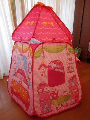 二手 九成新 韓國baby buddy 六面 公主 玩具 帳篷 粉紅 女孩 公主 兒童 玩具 帳篷 折疊遊戲屋 球屋 夢 台北市