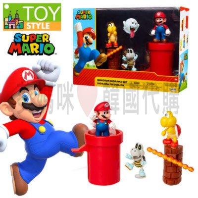 可超取??韓國境內版 超級 瑪莉歐 super mario 紅色 水管 場景 公仔 人偶 玩具遊戲組 瑪利歐