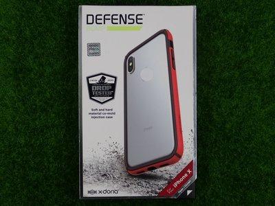 陸 Xdoria Apple iPhone X 10 IX 邊框 防摔殼 IX 星盾BUMP紅色