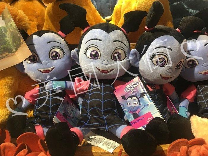 【美國大街】正品.美國迪士尼搞鬼萬聖節可愛尖牙小娜娜絨毛娃娃吸血鬼小娜娜絨毛娃娃 13.5吋 / 34cm