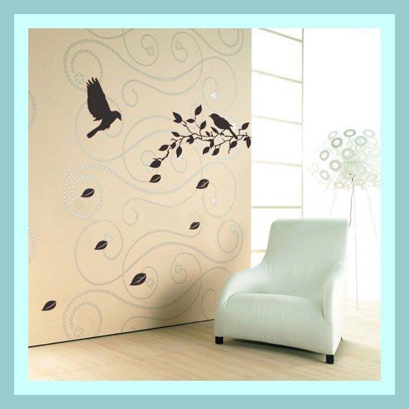 【皮蛋媽的私房貨】韓國壁貼&壁紙*室內設計/裝飾*樹枝孤鳥