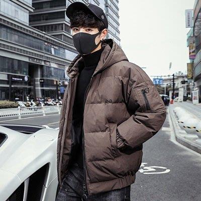羽絨 外套 連帽夾克-純色短款寬鬆百搭男外套2色73un13[獨家進口][米蘭精品]