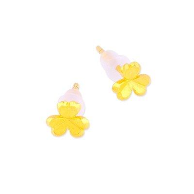 【JHT 金宏總珠寶/GIA鑽石】0.33錢 三葉草黃金耳環 (請詳閱商品描述)