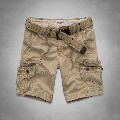 ?? A&F Cargo Shorts  重磅卡其工作短褲(28) Hollister