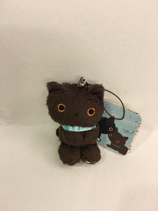 ^燕子部屋 ^ 襪子貓/ 靴下貓毛絨造型公仔娃娃手機吊飾-棕色