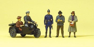 傑仲 (有發票) 博蘭 公司貨 Preiser 人物組 Motorrad Zundapp KS 750 10565 HO
