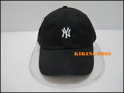 【喬治城】MLB 美國大聯盟 洋基隊 棒球帽 老帽 小logo 黑色 可調式 5762004-900