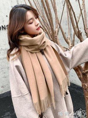 新款冬季韓版女針織加厚學生披肩百搭格子男圍脖秋冬情侶ins圍巾