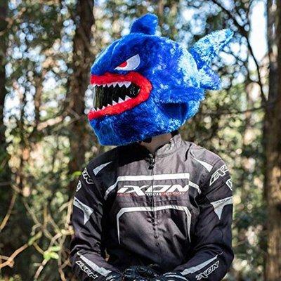 【丹】A_Moto Loot Helmet Cover 安全帽套 芝麻街 藍色鯊魚 鯊魚款