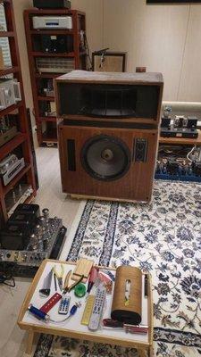 Altec 19 號角啦叭全整新外箱體無瑕疵 單體全頻響配對整新 全整新分音器高階零件MKP 丹麥