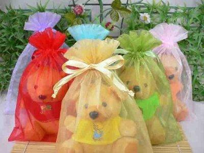 歡樂時光創意禮品~15x20cm素面雪紗袋@7.8元*金/淺紫/天藍各10個=234元,結婚禮小物/包裝資材袋/紗網袋