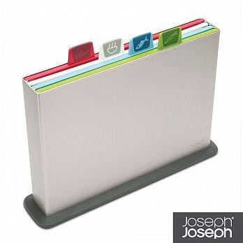 原廠公司貨《Joseph Joseph英國創意餐廚》檔案夾止滑砧板(大銀)-附凹槽設計--免運費!