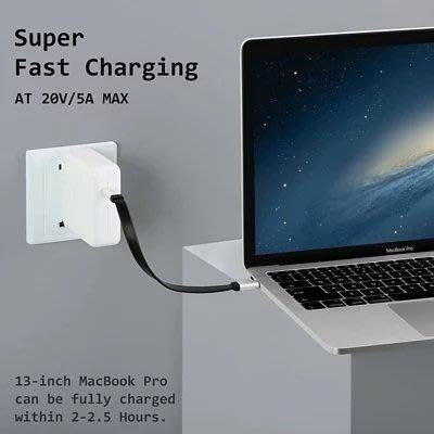 現貨供應[2入] DockCase USB-C to USB-C 連接線 22cm 最大功率100W 快速充電傳輸線