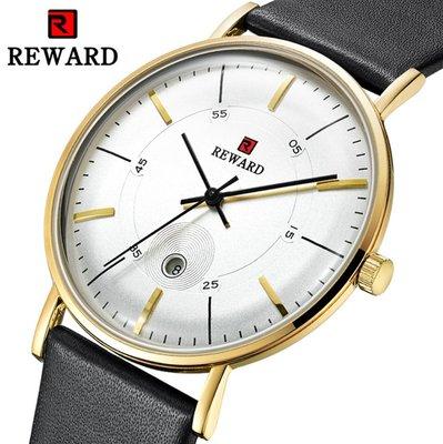 【潮裡潮氣】REWARD韓版時尚簡約超薄男表小清新防水潮流網帶創意概念個性手錶RD63088M