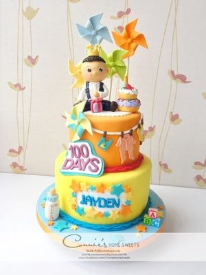 【Connie's Home Sweets】3D Custom Made Cake 可自訂款式 小朋友生日會 百日宴 滿月 Birthday 100 days