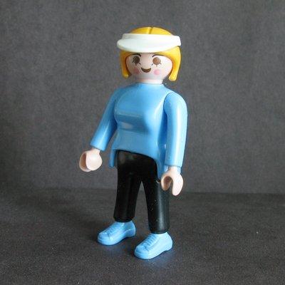 二手Playmobil 人仔 #figure 藍衣 球帽 (不包球拍,加球拍加 $5)