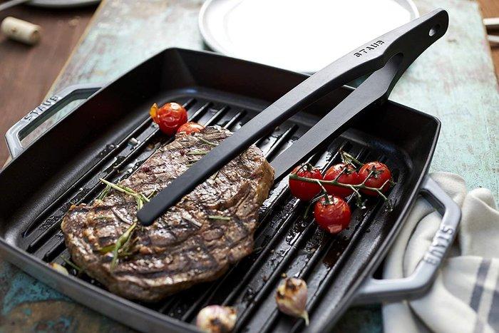 法國 STAUB  矽膠夾子  31cm  不沾鍋 好搭檔 漢堡夾 萬用夾 烤肉夾 燒烤夾 麵包夾 雞排夾
