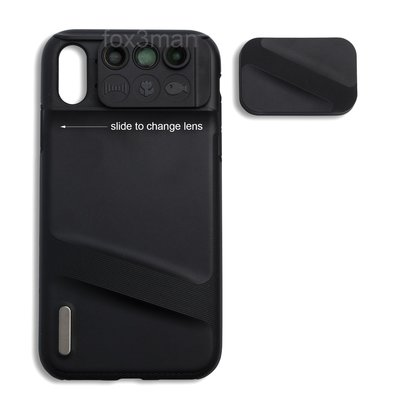 iPhone XR 3 in 1 Case with Lens 微距/魚眼/廣角三合一手機鏡頭+機套