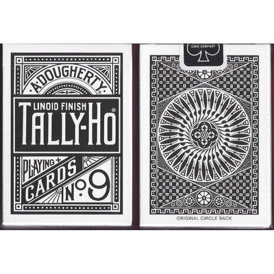 【意凡魔術小舖】黑色圓形牌背 Tally-Ho 撲克牌(黑色圓背)紙牌過年必備