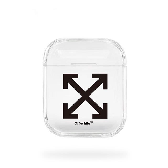 OFF WHITE潮牌聯名apple AirPods Case for iphone 耳機透名保護外殼套