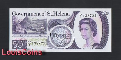 【Louis Coins】B1292-SAINT HELENA-ND (1979)聖赫勒拿島紙幣,50 Pence