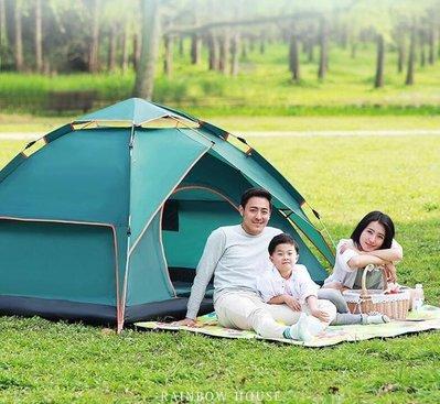 『格倫雅品』帳篷戶外3-4人全自動二室一廳家庭雙人2單人野營野外加厚防雨露營