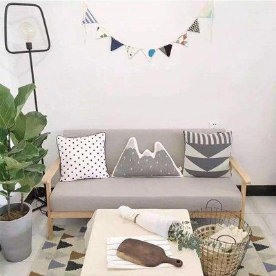 沙發 北歐日式小戶型拆洗三人布藝沙發單人雙人實木沙發椅臥室現代簡約ATF