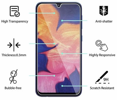 Samsung Galaxy A10 透明鋼化防爆玻璃 保護貼 9H Clear Tempered Glass Screen Protector Film