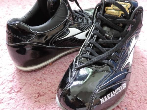 貳拾肆棒球-日本帶回  日職棒西武獅中村剛也實際支給用SSK釘鞋/27.5 cm/