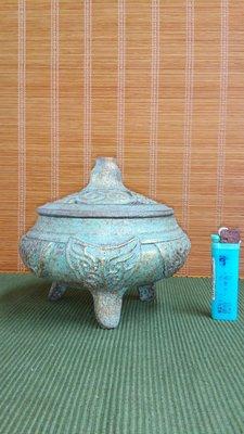 (店舖不續租清倉大拍賣)十禪--銅綠色陶爐,原價16000元特價8000元